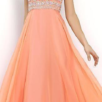 Pretty Blue Prom Dresses 2015,Beade..
