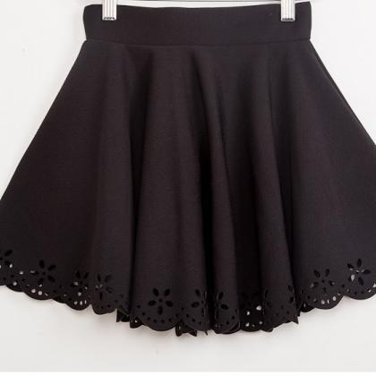4feb0eadb Short Skirt Cutout Three-dimensional Flower Bust Skirts,Lovely Women ...