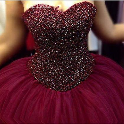 Ball Gown Prom Dress,Tulle Prom Dre..