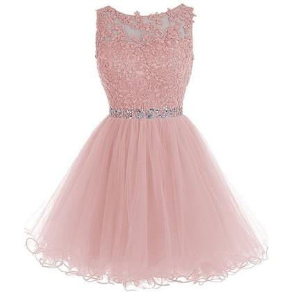 New Arrival Pink Homecoming Dress,T..