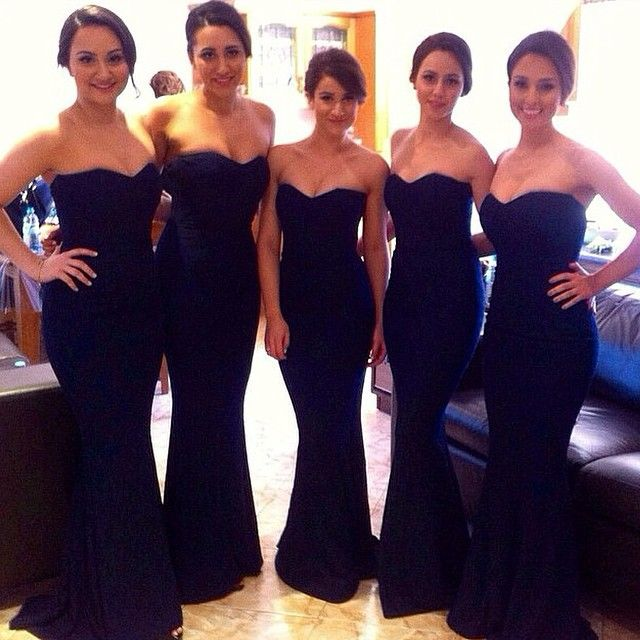 4bcc086b0e0 Navy Blue Long Bridesmaid Dresses