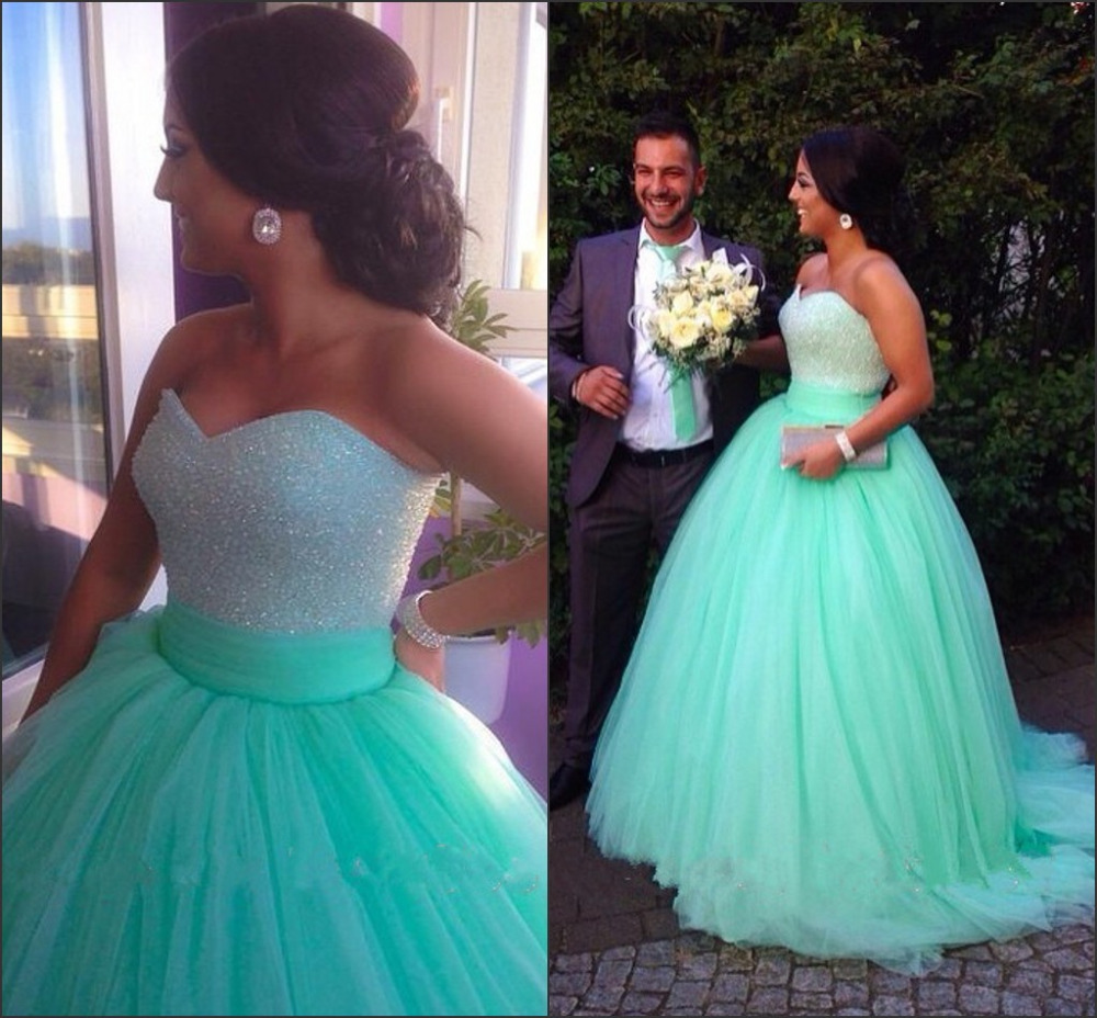 Sparkly Pageant Dress Sequins Beaded Bodice Corset Mint Green Prom ...