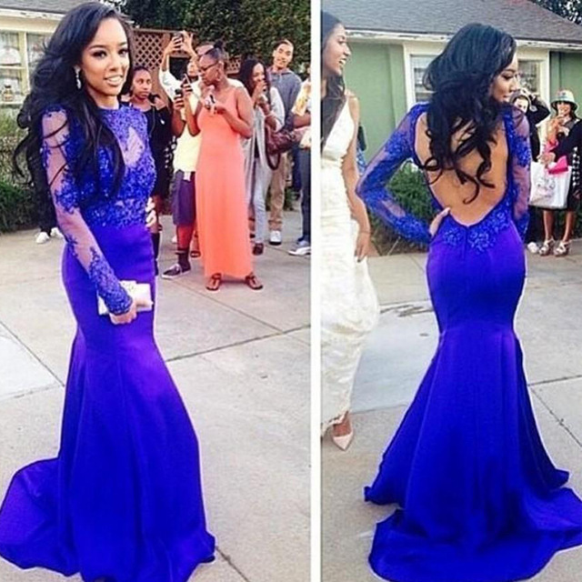 979472a89eb82 Mermaid Royal Blue Prom Dresses