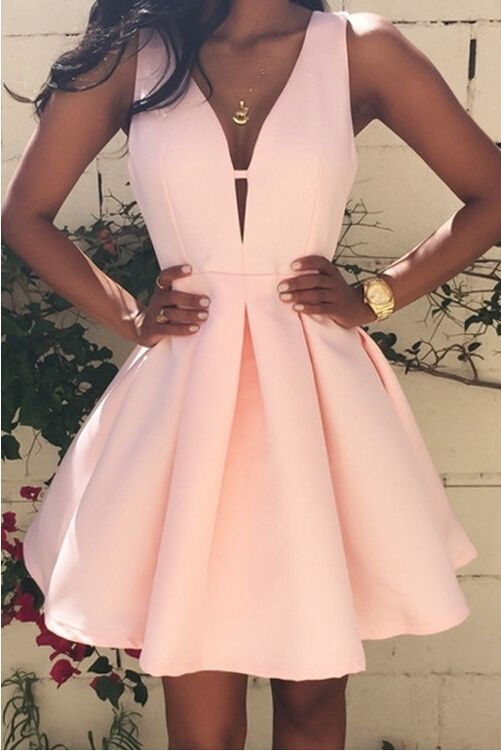 9261bbc8b4 LJ46 Shot Deep V Neck Prom Dress