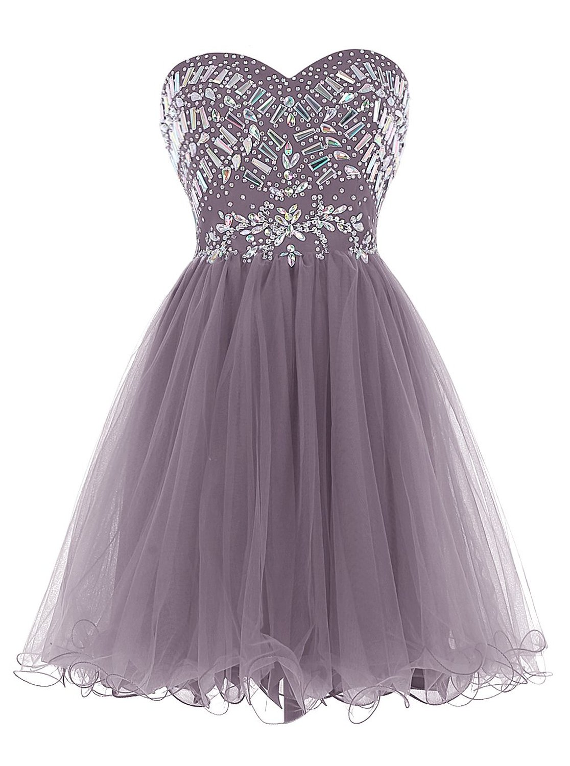df74ebf3d94 New Arrival Grey Tulle Homecoming Dress