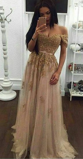 c43f4677fede Off Shoulder Evening Dresses,Sexy Lace Top Prom Dress,Long Prom Dresses,Formal  Gown