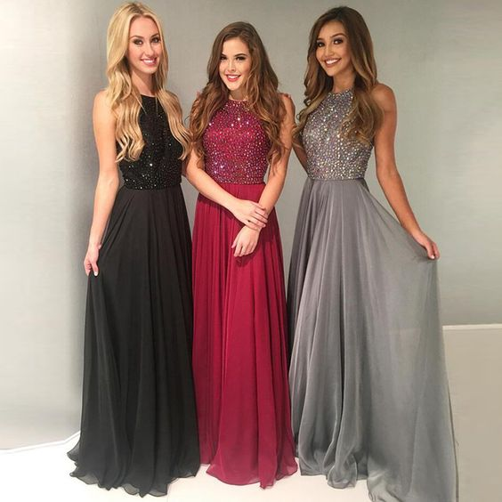 New Arrival Prom Dress,Beaded Prom Dresses,Long Homecoming Dress,Elegant Prom Dresses
