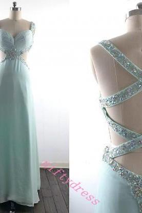 New Arrival Sparkly Prom Dress,Sexy Backless Evening Gown,Beading Cyrstal Prom Dresses,Floor Length Evening Dresses and Gown