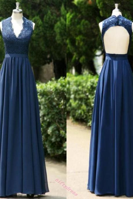 New Arrival Navy Blue Prom Dress,Floor Length Bridesmaid Dresses with Belt,Backless Wedding Party Dresses,Wedding Guest Dresses,Floor Length Evening Gown