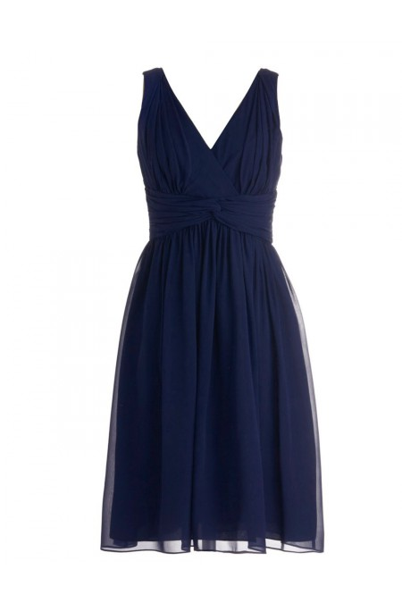 A-line Off-the-shoulder Dark Navy Real Sample Dress,Chiffon Prom Dresses,Short Prom Dresses,Bridesmaid Dresses