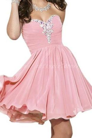 Cute Prom Dress,Chiffon Prom Dress,Short Evening Dress,Formal Dress