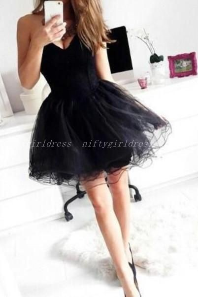 Charming Prom Dress,Black Prom Dress,Cute Prom Dress