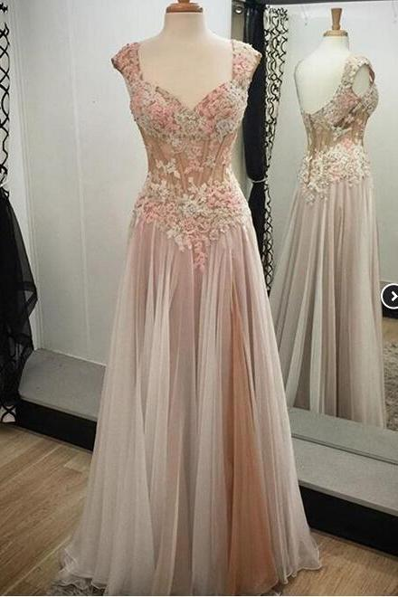 Charming Prom Dress,Long Prom Dresses,Tulle Evening Dress,Evening Gown