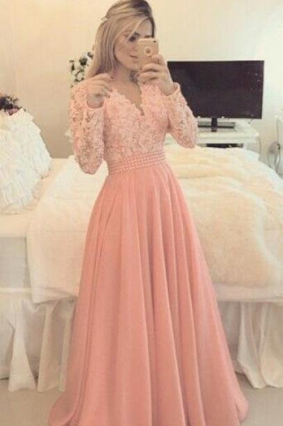 Charming Prom Dress,Long Sleeve Prom Dress,Formal Evening Dress,Elegant Evening Dresses