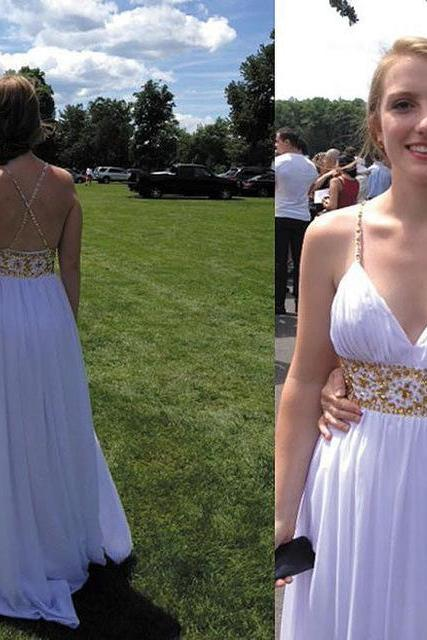 Charming Prom Dress,Chiffon Sexy Prom Dress,Long Prom Dress,Backless Prom Gown,Wedding Party Dress