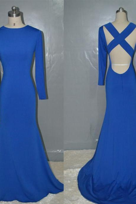 New Arrival Fashion Mermaid Evening Dress,Formal Evening Gown,Simple Formal Dress