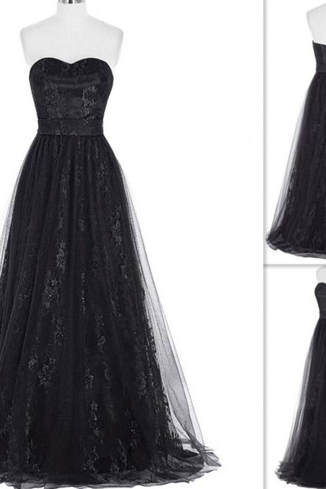 New Arrival Sweetheart Prom Dress,Backless Evening Dress,Formal Evening Gown,Black Mermaid Formal Dress,Women Dress