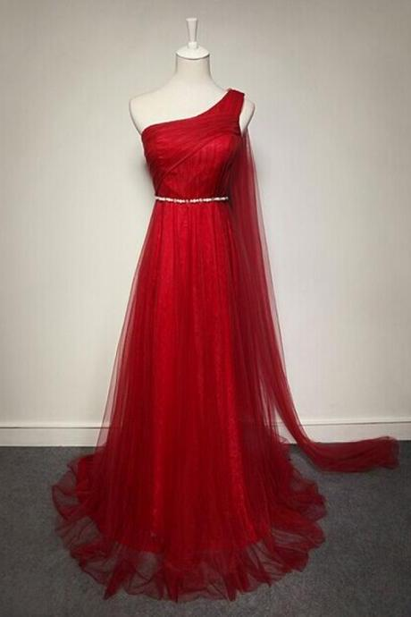 Charming Prom Dress,Long Prom Dresses,Red Formal Evening Dress