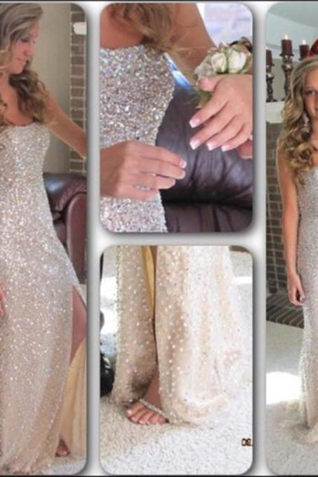 Sexy Long Prom Dresses Elegant Slit Prom Dress Formal Evening Dress