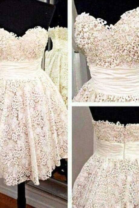 Elegant Prom Dress,Short Homecoming Dress,Sweetheart Homecoming Dresses,Sweetheart Prom Gown