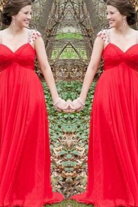 Charming Prom Dress,Red A Line Prom Dress,Long Evening Dresses,Formal Evening Dress