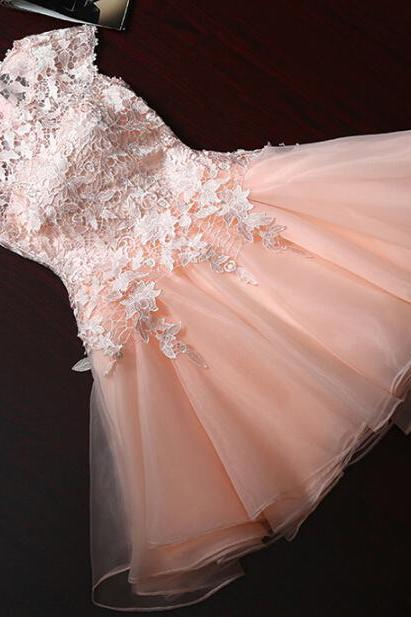 Charming Prom Dress,Elegant Prom Dresses,Short Prom Dress,Lace Homecoming Dress
