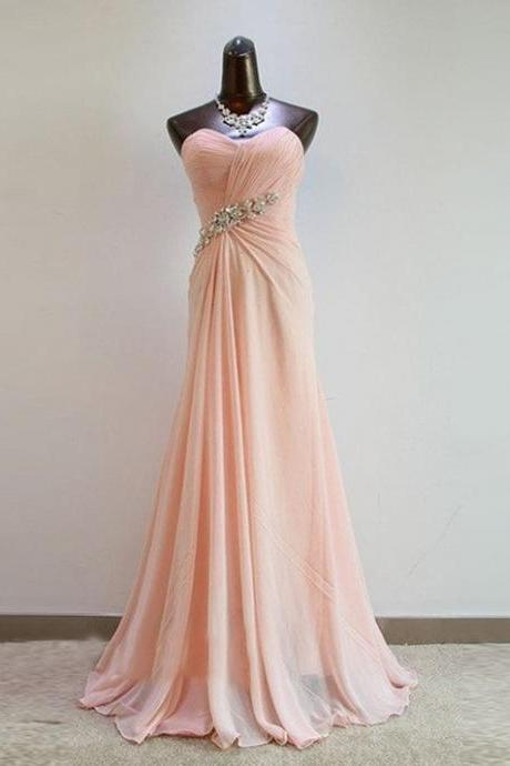 Long Evening Dress,Chiffon Evening Dresses,Long Prom Dress,Sexy Backless Prom Dresses