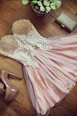 Sleeveless Lovely Prom Dress,Cute Prom Dress,Tulle Prom Dress,Short Prom Gown,Prom Dress for Party
