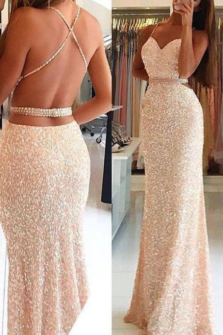 New Arrival Prom Dress,Backless Prom Dresses,Long Evening Dress,Elegant Prom Dresses,Floor Length Evening Formal Dress