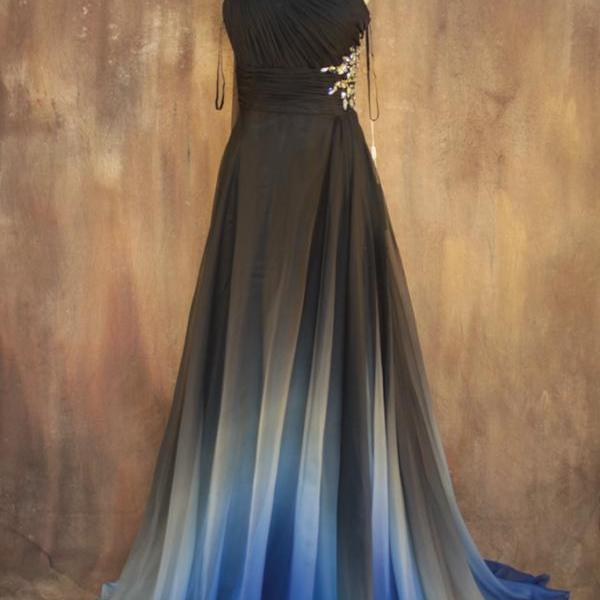 Gradient Color Prom Dresses,Sweetheart Homecoming Dresses,Backless Evening Dresses,Charming Long Dresses