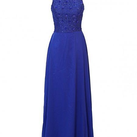 A-line Chiffon A-line Prom Dress,Floor-length Zipper Prom Gown,Evening Dresses,Bridesmaid Dresses