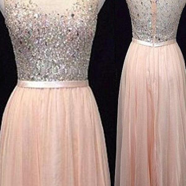 Light Blush Pink Prom Dresses,Backless Prom Dress,Beaded Prom Dresses,Long Evening Gown,Simple Evening Dress,Beaded Party Dress,Pink Prom Gowns