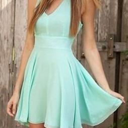 New Arrival Mint Green Prom Dress,Chiffon Sexy Prom Dress,Prom Gown,Party Dress