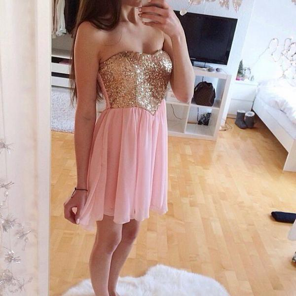 Charming Prom Dress,Sexy Prom Dresses,Pink Party Dress,Prom Gown
