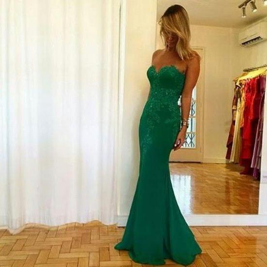 Prom Dress,Mermaid Prom Dress,Long Evening Dress,Sexy Evening Gown