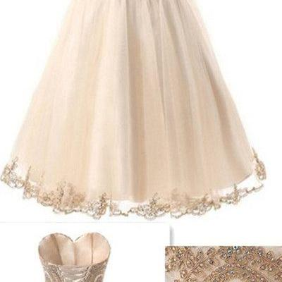 New Arrival Backless Prom Dress,Sweetheart Beading Prom Dress,Short Prom Dress,Prom Gown