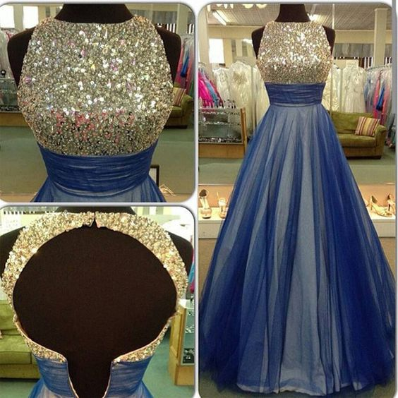 New Arrival Backless Prom Dress,Luxury Crystal Evening Dress,Long Evening Dresses,Formal Dress