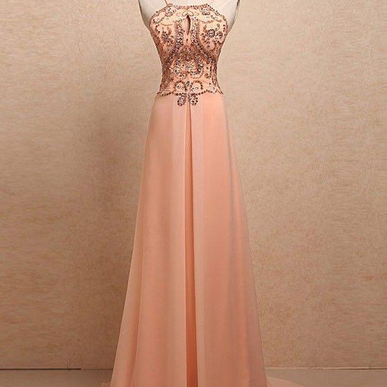 New Arrival Long Prom Dress,Sexy Backless Prom Dress,Beading Prom Gown,Evening Dresses