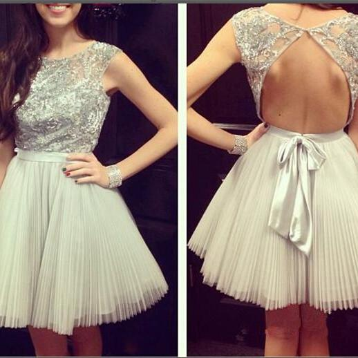 Backless Prom Dress,Tulle Prom Dress,Short Homecoming Dress,Homecoming Dresses