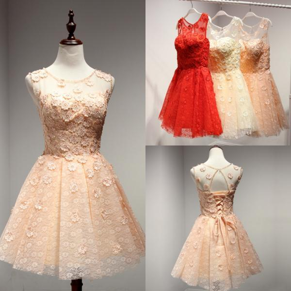 New Arrival Homecoming Dress,Lace Homecoming Dresses,Short Prom Dress